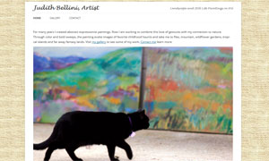 Website designed for Judith Bellini, abstract and landscape artist.