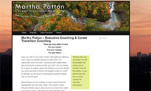 Martha Patton.com website to promote executive and career coaching business.