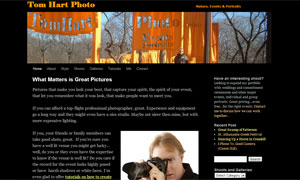 Website to show off semi-professional photography side business.