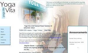 Html website to promote Iyengar Yoga Studio on Teaneck Road in Teaneck, NJ